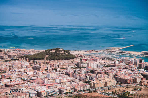 Denia City view from Montgo