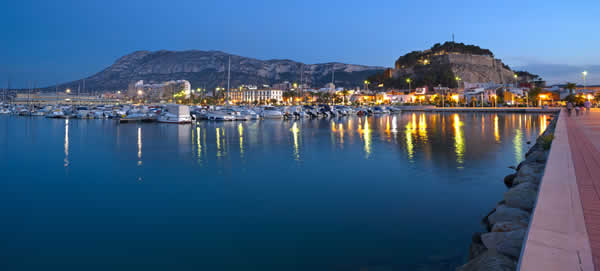 Denia Harbour Evening
